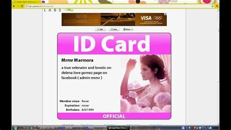 where to get template to make id card how to make id cards tutorial