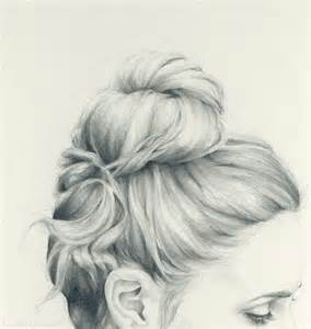 pencil drawing of hair styles of pencil sketch updo hair girl art style photo