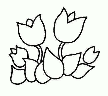 imagenes infantiles para colorear de flores dibujos para pintar flores tulipanes dibujos para