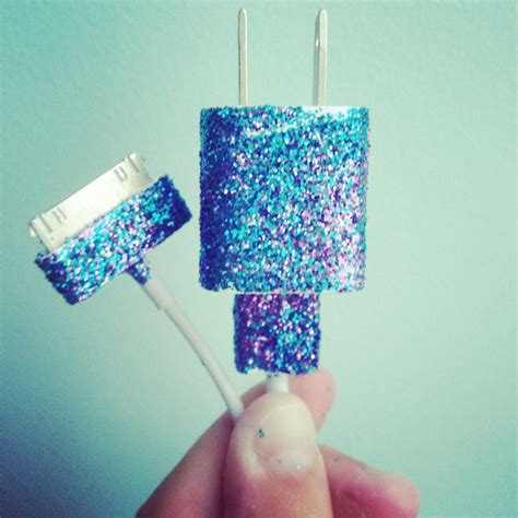 diy phone charger diy glitter phone charger creative things pinterest