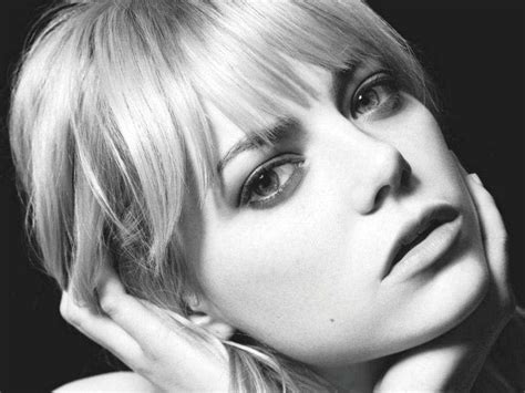 emma stone wallpaper black and white emma stone wallpapers wallpaper cave