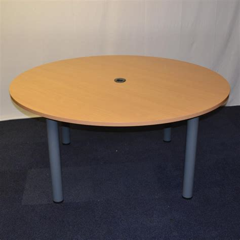 Circular Meeting Table Beech 1600d Circular Meeting Table