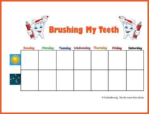 printable tooth brushing reward chart free brushing your teeth chart weekly star acn latitudes