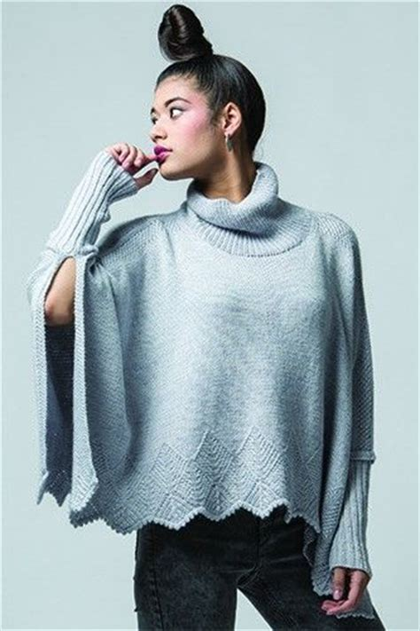 knitting pattern poncho with sleeves modern poncho knitting patterns in the loop knitting