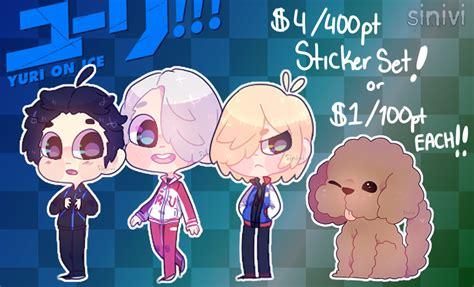 Sticker Set Yuri On By Paupery yuri on sticker set 4 free shipping by sinivi