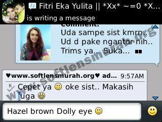 Softlens Warna No 8 Hazel 1 softlens dolly eye black 22 8mm softlens