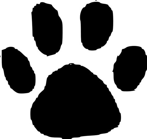 printable animal feet free vector graphic print foot footstep animals cat