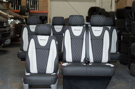 bentley quilted leather seats vw t5 6 seater kombi raceline leather seats
