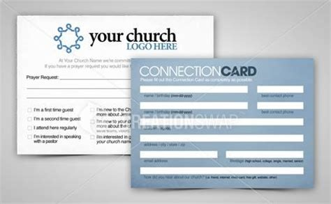 connection cards free template connection card church visitor ideas