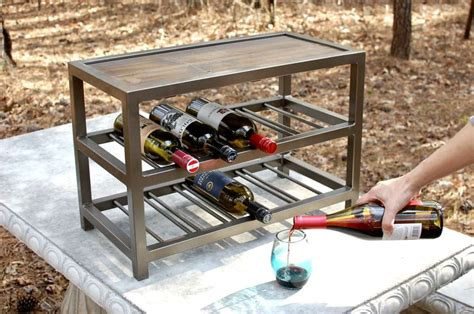 venice metal 10 bottle wine rack southern