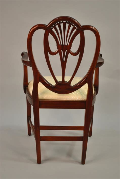 swag sweetheart shield back dining room chairs solid mahogany