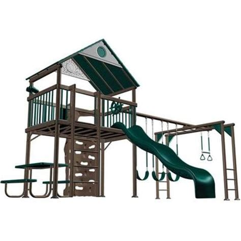 lifetime swing set canada lifetime products lifetime deluxe playset earth tone