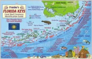 florida snorkeling map florida fish card franko s fabulous maps of