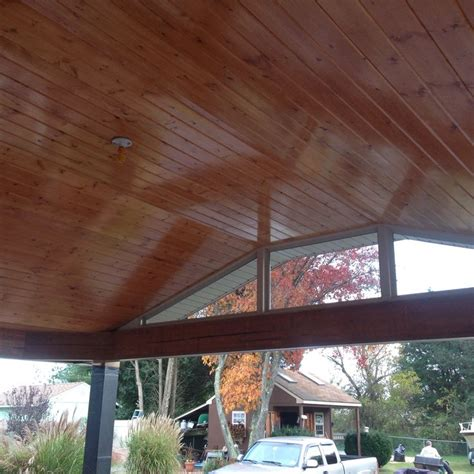Deck Ceiling Ideas by Pine Ceiling For Outdoor Deck Decor Ideas