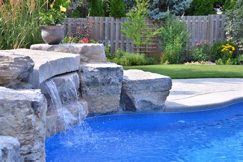 inground pool with waterfall bob karins inground pool pioneer family pools