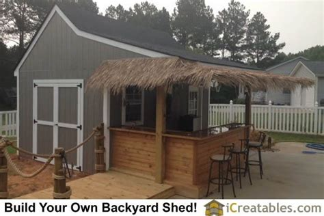 Pool House Shed Plans by 10x16 Pool House Cabana Plans With Bar And Sun Deck