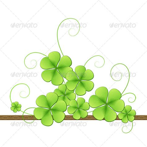 clover templates flowers clover background for st patricks day graphicriver