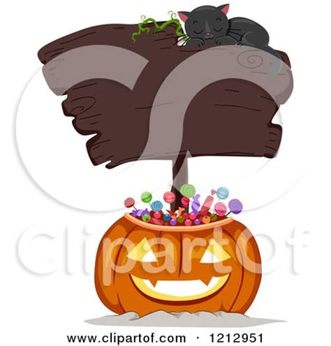 Clipart of a Halloween Jackolantern Pumpkin Full of Candy ... About:blank Free Halloween Clipart