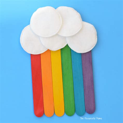craft activity for craft sticks rainbow craft the resourceful