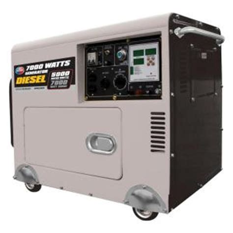 all power 7 000 watt 418 cc diesel generator with digital
