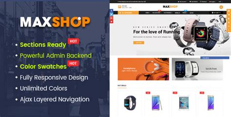 shopify advanced themes maxshop advanced multipurpose shopify sections theme