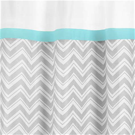 turquoise and gray shower curtain sweet jojo designs gray and turquoise zig zag collection