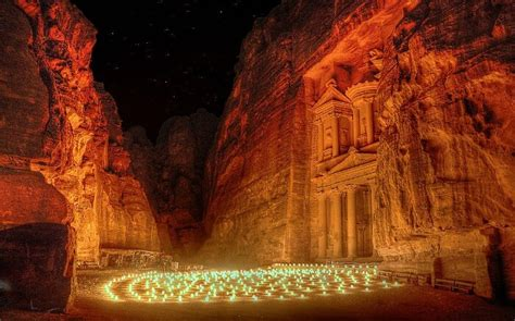 petra caves  jordan  rose red city     time