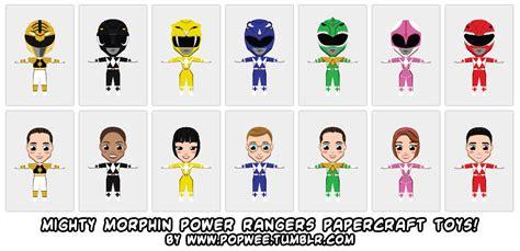 Power Ranger Papercraft - ninjatoes papercraft weblog mighty morphin power rangers