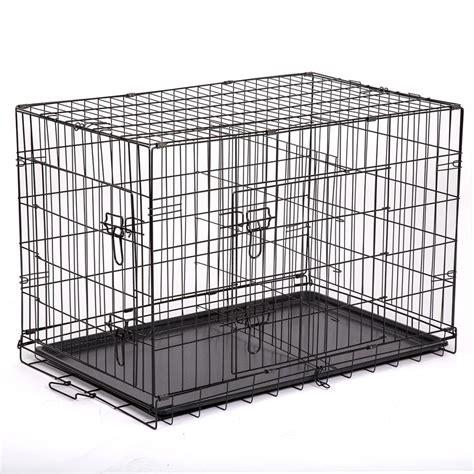 metal cage 48 quot 42 quot 36 quot 30 quot 24 quot pet kennel cat folding crate wire metal cage w divider ebay