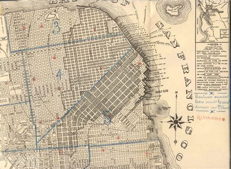 san francisco map before 1906 110 years ago images from san francisco s devastating