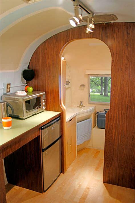 airstream bathroom renovation challenging open floor plan in airstream renovation