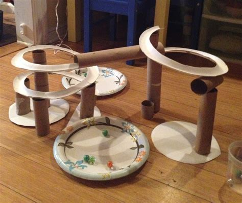 How To Make Sticks With Toilet Paper Rolls - marble run made out of toilet paper rolls and paper plates
