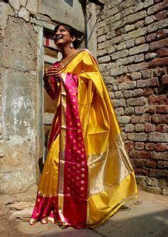 Resha Pink Orange Banarasi Silk Saree Banarasi Weaves