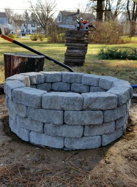 building firepit building a firepit in your backyard how to build an