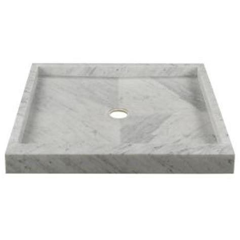 36 in x 36 in shower pan in carrara 78118 the