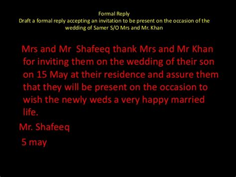 reply for a friends marriage invitation accepting and declining invitations