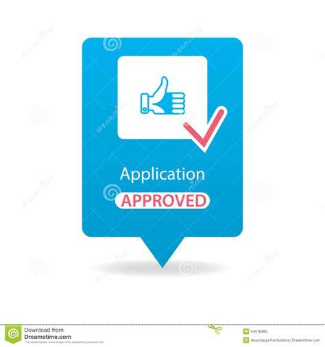 eps format application application approved stock illustration image 54578385