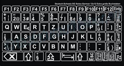 Buchstaben Aufkleber Für Laptop Tastatur by Tastaturaufkleber Deutsch Schweiz Grosse Schriftzeichen