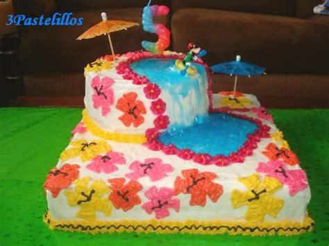 bizcocho decorado hawaiano pasteles de decorado de hawaiano imagui