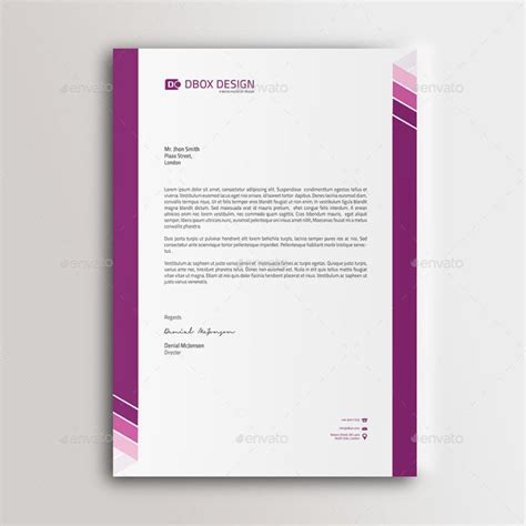 company letterhead designs letter template business