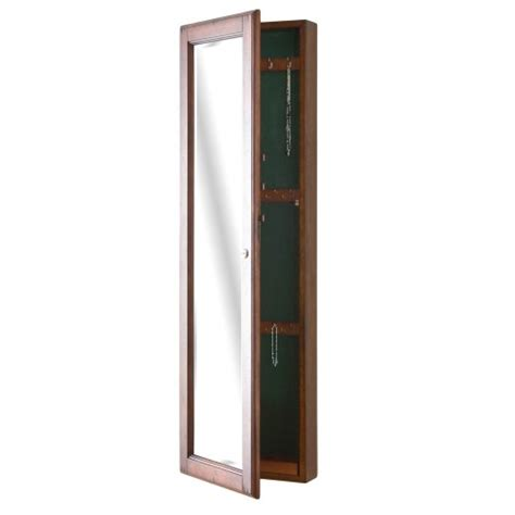 Sei Jewelry Armoire by Sei Wall Mount Jewelry Armoire With Mirror Walnut