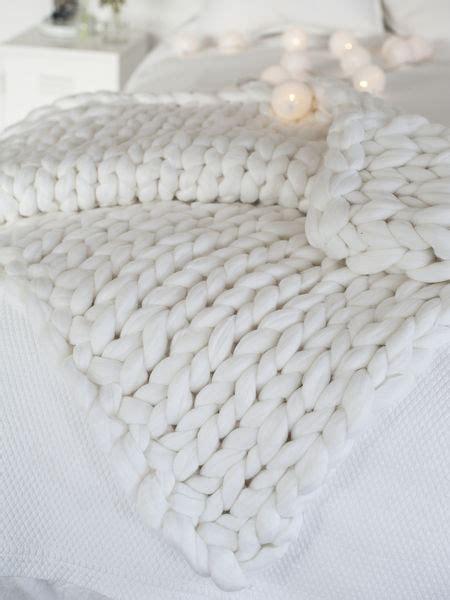 white chunky knit blanket luxury white knitted blanket