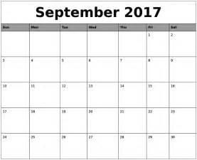 Calendar Template September 2017 Word September 2017 Calendar Word Calendar Template Letter