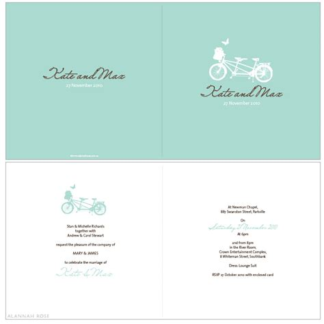 bicycle for two wedding invitations alannah wedding invitations stationery shop