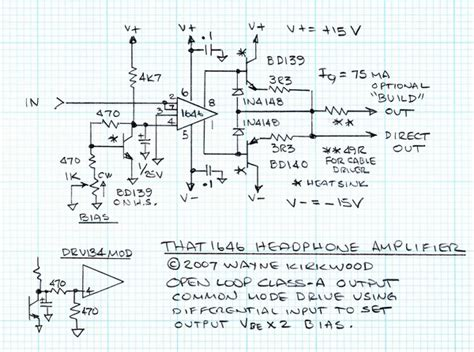 transistor predriver using the that1646 as a transistor pre driver headphone page 2 pro audio design forum
