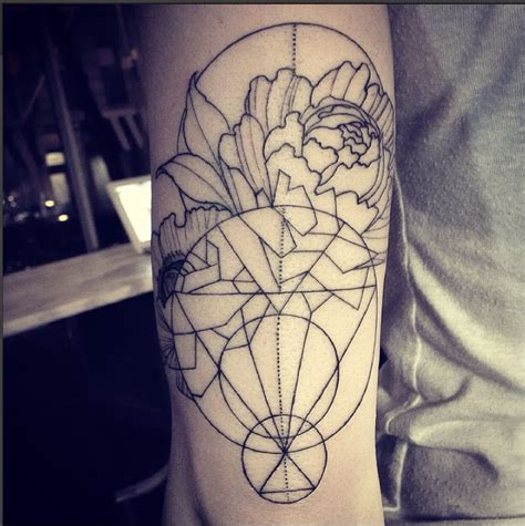 dots to lines tattoo the 25 best geometric flower tattoos ideas on