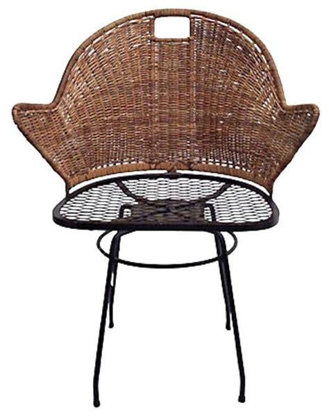 Mid Century 1960 S Rattan Swivel Desk Chair 700 Est Rattan Swivel Desk Chair