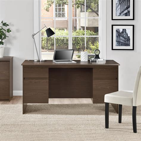 executive desk with file drawers ameriwood furniture executive desk with file drawers