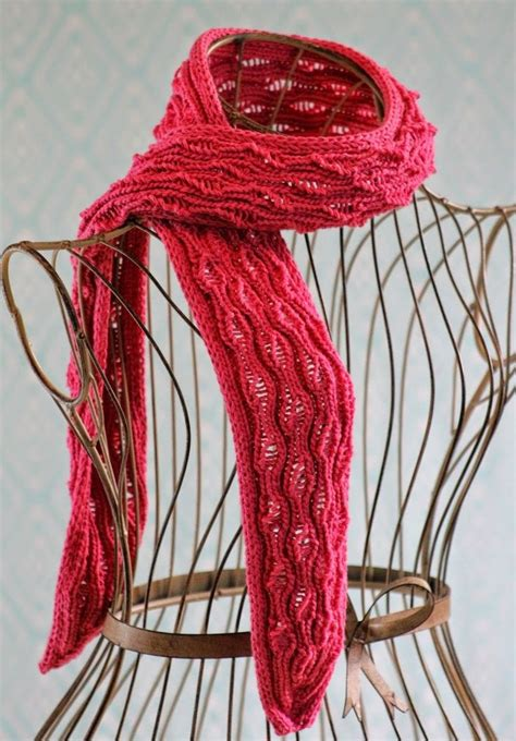 vertical striped scarf knitting pattern vertical drop stitch scarf stitches yarns and patterns