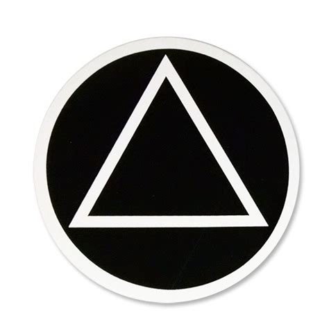 Triangle On Circle circle triangle sticker alcoholics anonymous cleveland